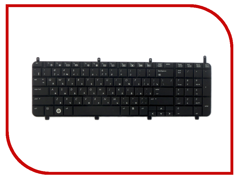 Клавиатура TopON TOP-100486 для HP Pavilion dv8-1000 Series Black<br>