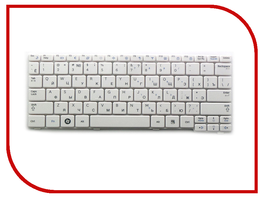 Клавиатура TopON TOP-100297 для Samsung N140 / N144 / N145 / N148 / N150 / NB20 / NB30 Series White