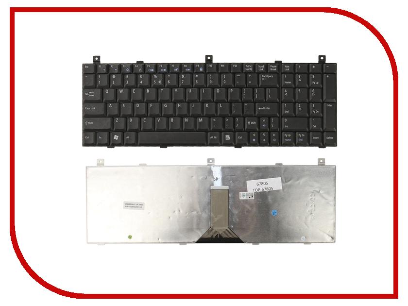 Клавиатура TopON TOP-67805 для Acer Aspire 1800 / 9500 / 9500WSMi / 9501WLMi / 9502WLMi / 9502WSMi / 9503EWSMi / 9503WLMi / 9503WSMi / 9504WLMi / 9504WSMi Series Black клавиатура для ноутбука acer aspire one a110l a110x a150l a150x d250 zg5 series topon top 73401 белый