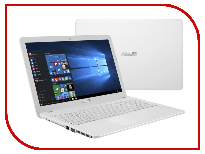 Ноутбук ASUS X540SA-XX557T 90NB0B32-M13340 (Intel Celeron N3060 1.6 GHz/4096Mb/500Gb/DVD-RW/Intel HD Graphics/Wi-Fi/Bluetooth/Cam/15.6/1366x768/Windows 10 64-bit)<br>