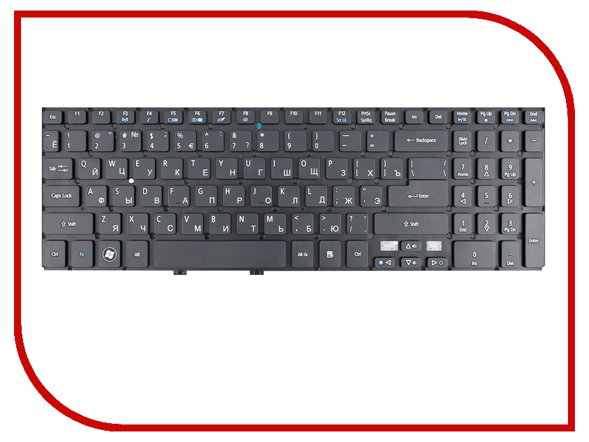 Клавиатура TopON TOP-90700 для Acer Aspire V5 M3-581T / V5-531 / V5-571 Series Black russian keyboard for acer aspire v5 v5 531 v5 531g v5 551 ms2361 v5 551g v5 571 v5 571g v5 571p v5 531p m3 581g 581ptg ru