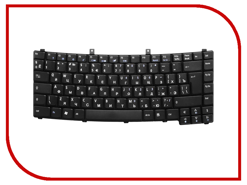 Клавиатура TopON TOP-99928 для Acer Ferrari 4000 / TM 8100 Black клавиатура для ноутбука acer aspire one a110l a110x a150l a150x d250 zg5 series topon top 73401 белый