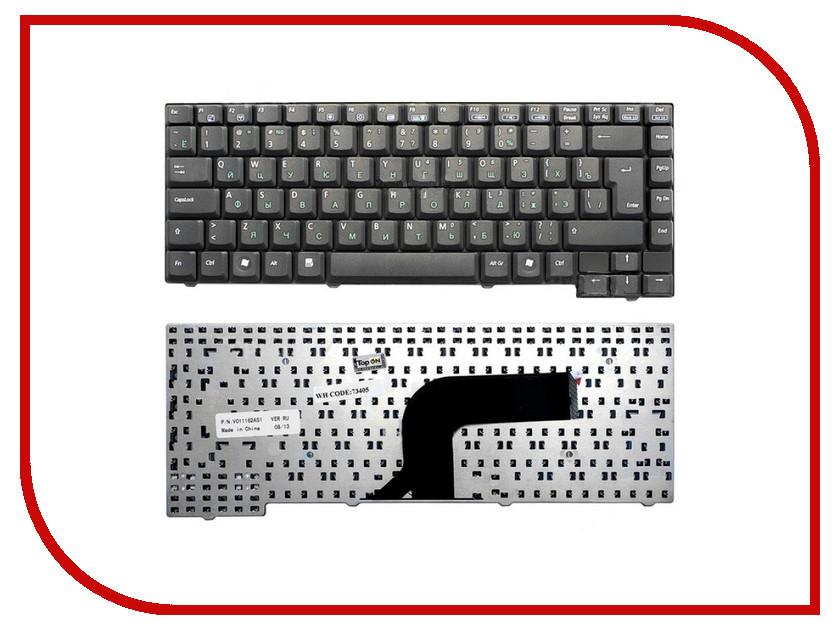 Клавиатура TopON TOP-73405 для ASUS A3H / A3A / A3E / A3G / A3V / A3000E / A3000V / A3500E / A4 / A4000 / A7000 / A7000V / A7G / A7D / A7j / A7V / Z8 / Z80 / Z8000 / F5R / F5RL / F5M / F5SL / F5Z / F5S / R20 / M9 / M13 / X59SL / X59SR Series Black<br>