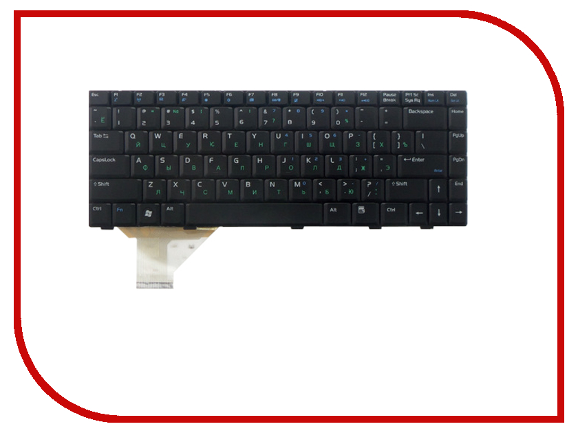 Клавиатура TopON TOP-100496 для ASUS A8 / A8C / A8Dc / A8E / A8F / A8Fm / A8H / A8He / A8J / A8Ja / A8Jc / A8Je / A8Jm / A8Jn / A8Jp / A8Jr / A8Js Black