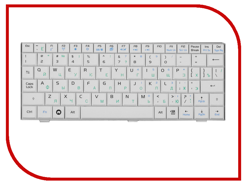 Клавиатура TopON TOP-77192 для ASUS Eee PC 700 / 701 / 900 / 901 Series White