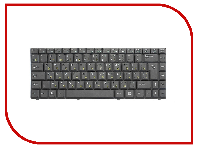 Клавиатура TopON TOP-69725 для ASUS F5 / C90 / Z37 Series Black клавиатура topon top 99934 для asus x551ca x551cav x551ma black