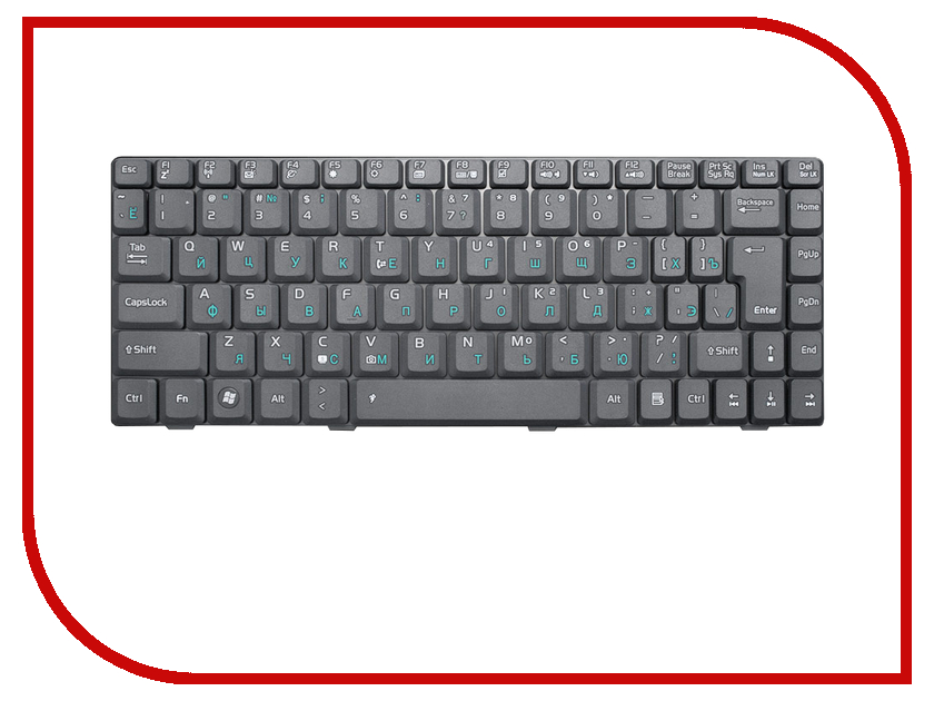 Клавиатура TopON TOP-69726 для ASUS F9 / F9S / F9E / F9D / F9F / F9G / F6 / F6V / U3 / U3S / U6 / U6E / U6V Series Black<br>