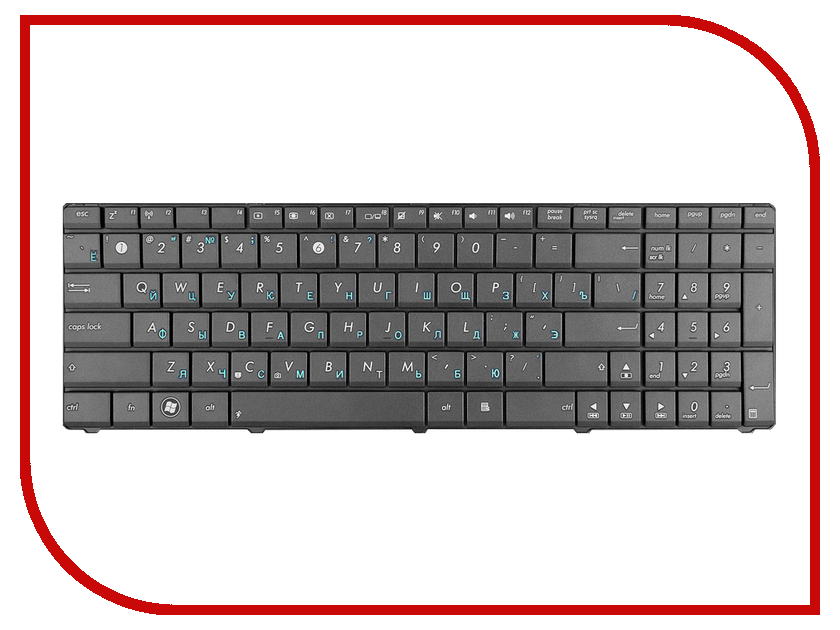 Клавиатура TopON TOP-86670 для ASUS K53T / K53Br / K53By / K53Ta / K53Tk / K53U / K53Z / K73Br / K73By / K73Ta / K73Tk / X53 / X53U Series Black<br>