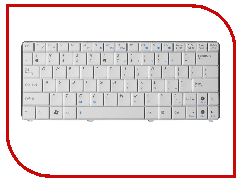 Клавиатура TopON TOP-73530 для ASUS N10 / N10A / N10C / N10E / N10J / N10JC Series White блок питания topon top hp120 19 5v 6 15a 4 5x3 0mm 120w для hp envy 15 17 dell xps 15 asus ux501 rog g501 msi cx62 series
