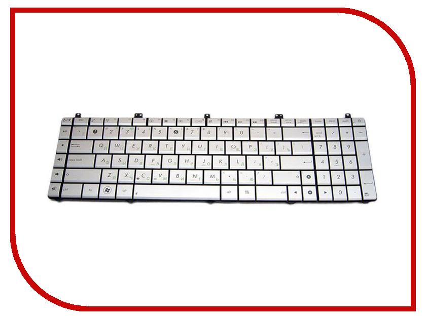 Клавиатура TopON TOP-92239 для ASUS N55 / N55S / N75 / N75S Series Silver клавиатура для ноутбука acer aspire one a110l a110x a150l a150x d250 zg5 series topon top 73401 белый