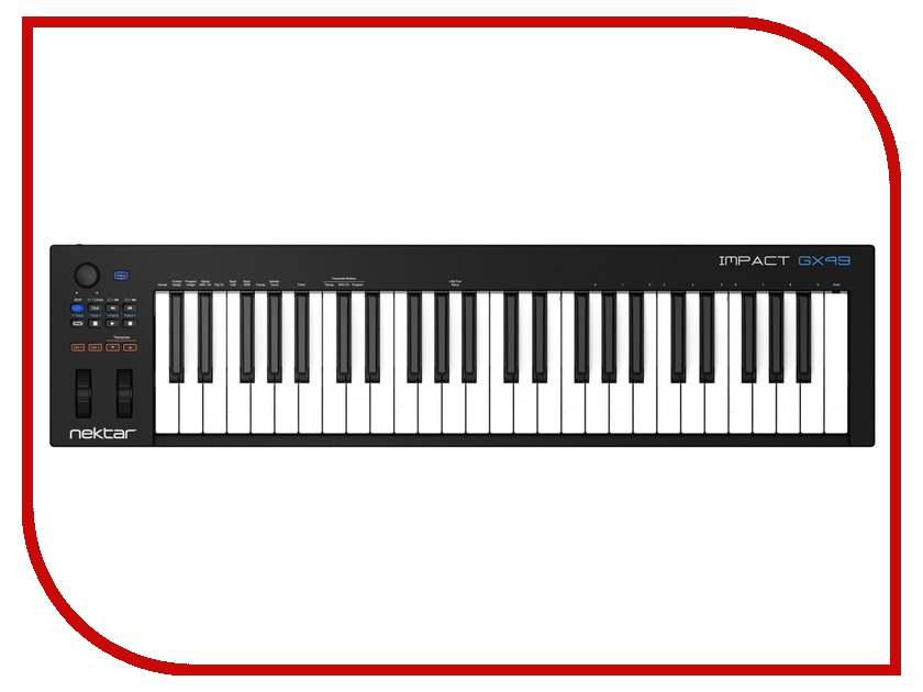 MIDI-клавиатура Nektar Impact GX49 midi клавиатура 49 клавиш samson carbon 49