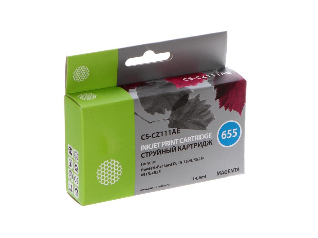 Картридж Cactus CS-CZ111AE №655 для HP DJ IA 3525/5525/4515/4525 Purple