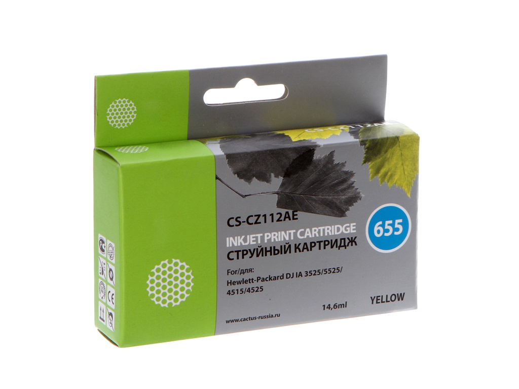 Картридж Cactus CS-CZ112AE для HP DJ IA 3525/5525/4515/4525 Yellow