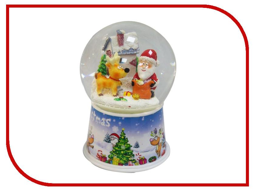 Снежный шар Новогодняя Сказка Дед мороз с оленем 10см 972482 игрушка новогодняя сказка дед мороз 25см blue 949200
