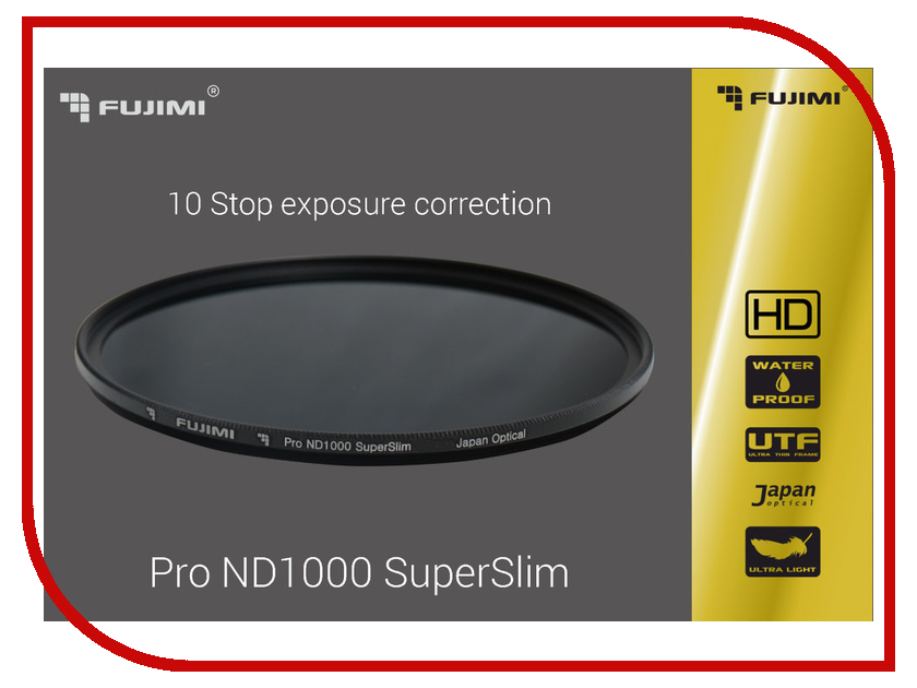 Светофильтр Fujimi Pro ND1000 SuperSlim 1000x 72mm 1369<br>
