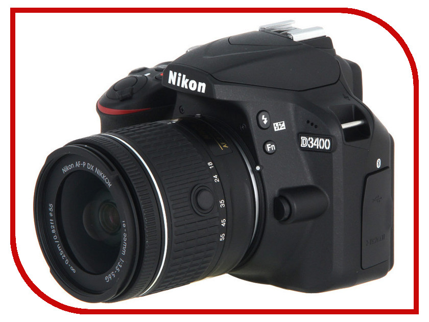 Фотоаппарат Nikon D3400 Kit 18-55 mm AF-P Black цена и фото