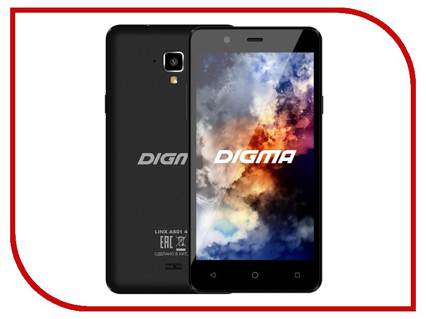Сотовый телефон Digma Linx A501 4G Black электронная книга 6 digma s677 черный