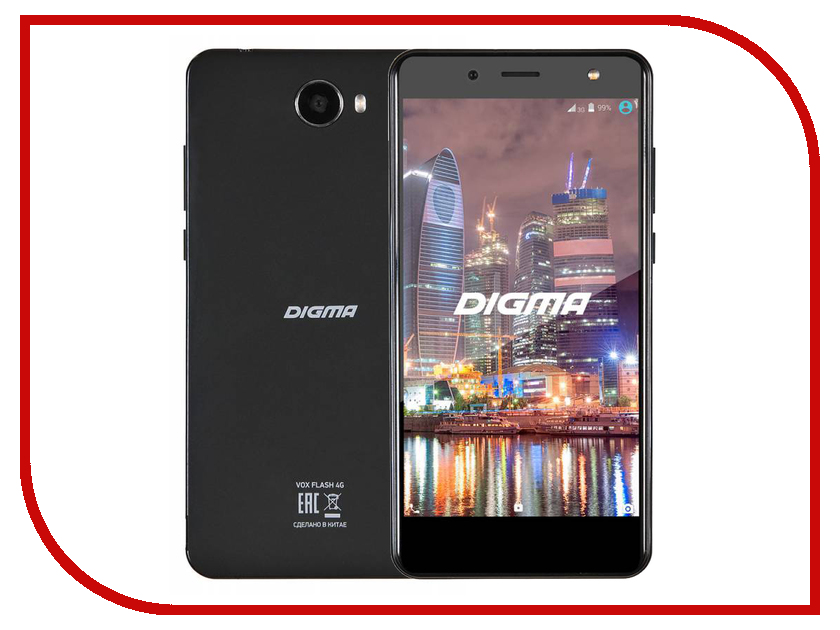 Сотовый телефон Digma VOX Flash 4G Black