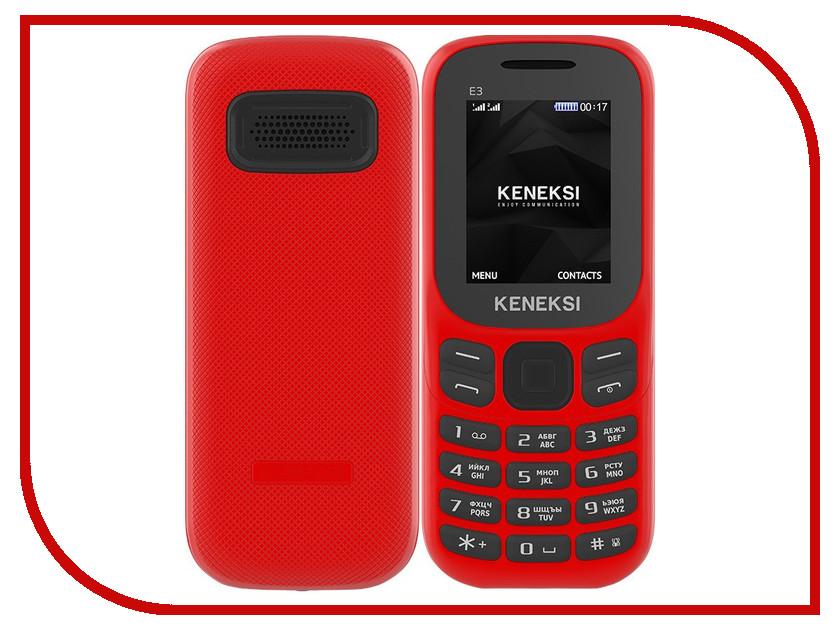 Сотовый телефон KENEKSI E3 Red