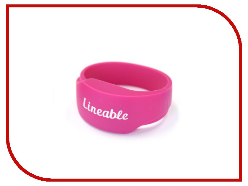 Умный браслет Детский трекер GPS Lineable Smart Band Size L Pink RWL-100PKLG<br>