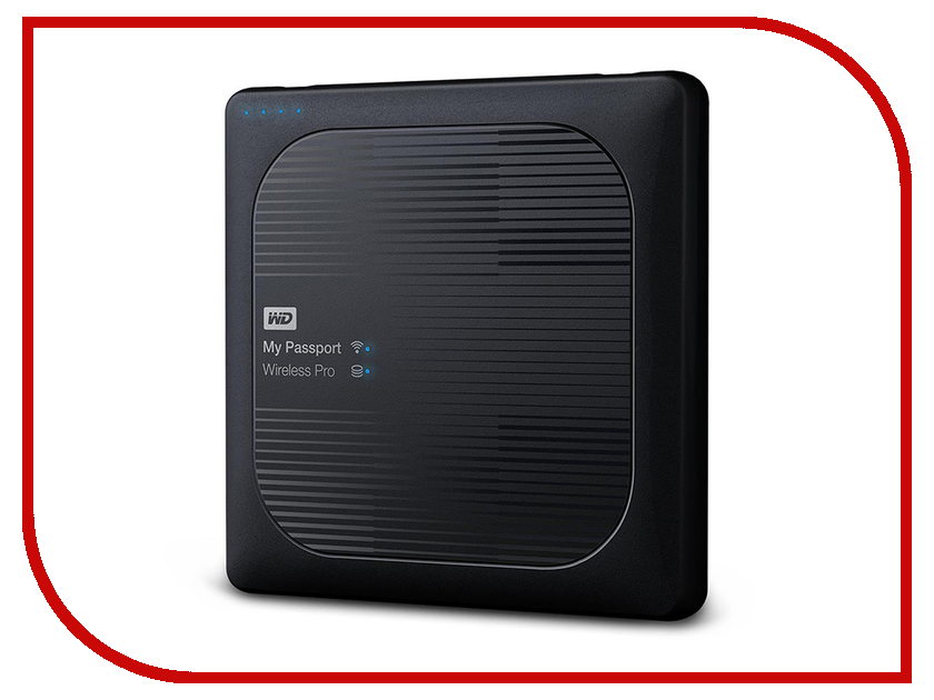 Жесткий диск Western Digital My Passport Wireless Pro 2Tb WDBP2P0020BBK жесткий диск пк western digital wd20ezrz 2tb wd20ezrz