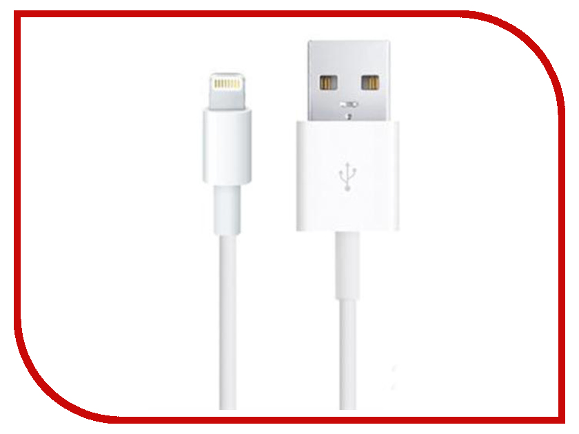 Аксессуар Glossar iP5-01 USB - Lightning для iPhone 5/5S White 31307