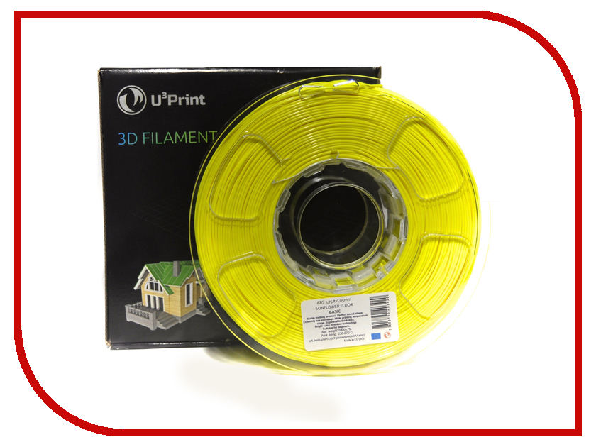 Аксессуар U3Print PLA-пластик 1.75mm 1кг Sunflower Fluory Basic