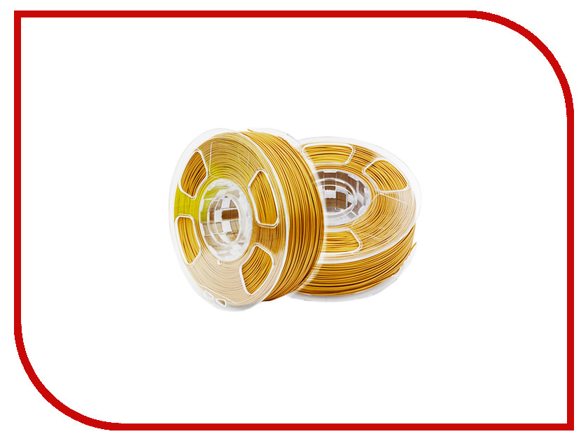 Аксессуар U3Print ABS-пластик 1.75mm 1кг Pure Gold HP аксессуар u3print pla пластик 1 75mm 1кг sunflower fluory hp
