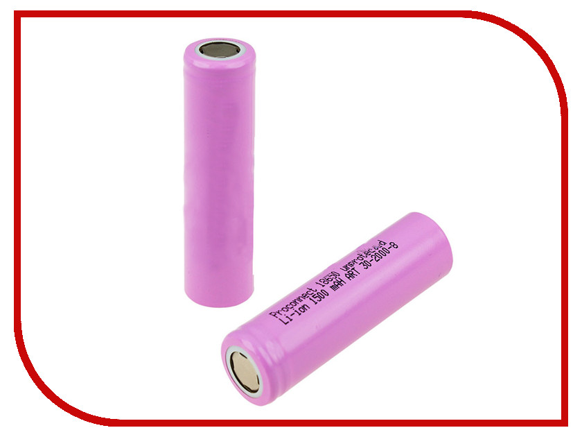 Аккумулятор ProConnect 18650 Li-Ion 1500 mAh 3.6V 10шт 30-2000-8<br>