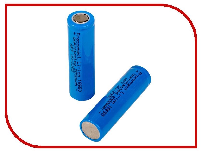 Аккумулятор ProConnect 10 штук 18650 Li-Ion 2000 mAh 3.6V 30-2000 ultrafire 8 4v 6600mah rechargeable 6 x 18650 li ion battery pack black