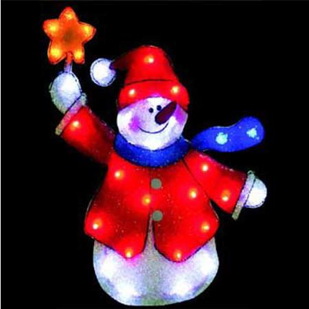 Светящееся украшение SnowHouse Снеговик 81.5x52.5cm PKQE07SW23/1