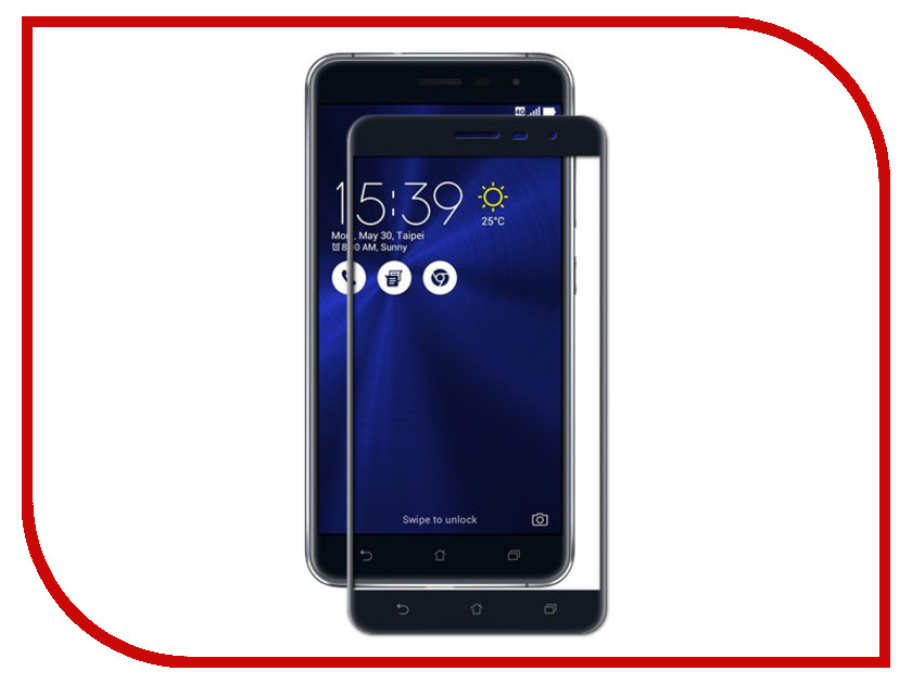 Аксессуар Закаленное стекло для ASUS Zenfone 3 ZE552KL DF Full Screen aColor-03 Black kinlong w6132785 interior door lock 304 stainless steel lever handle locks mechanical anti theft
