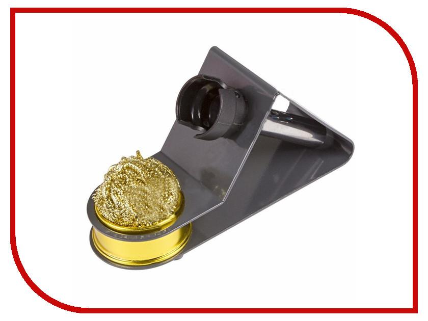 Подставка под паяльник Rexant + стружка для очистки жала 12-0309 держатель третья рука rexant с лупой 2 5x подставка под паяльник led подсветка 12 0250