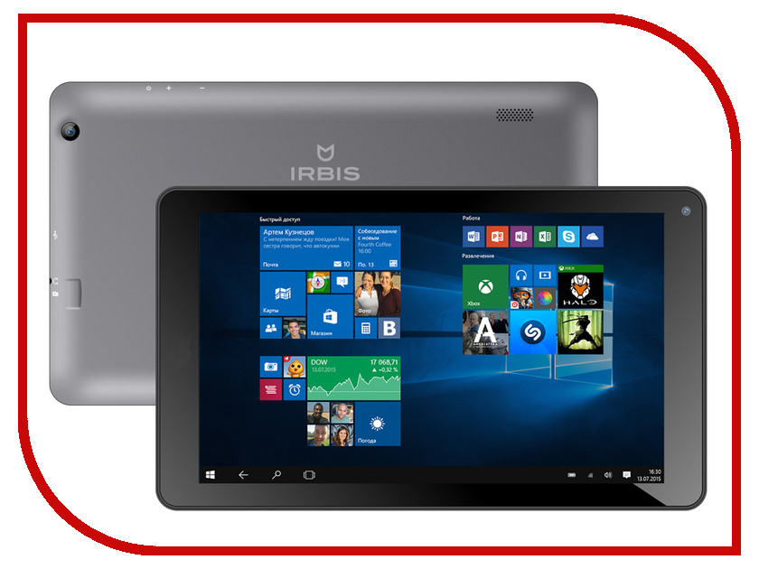 Планшет Irbis TW33 (Intel Atom Z3735G 1.33 GHz/1024Mb/16Gb/Wi-Fi/Bluetooth/Cam/8.9/1024x600/Windows 10)<br>