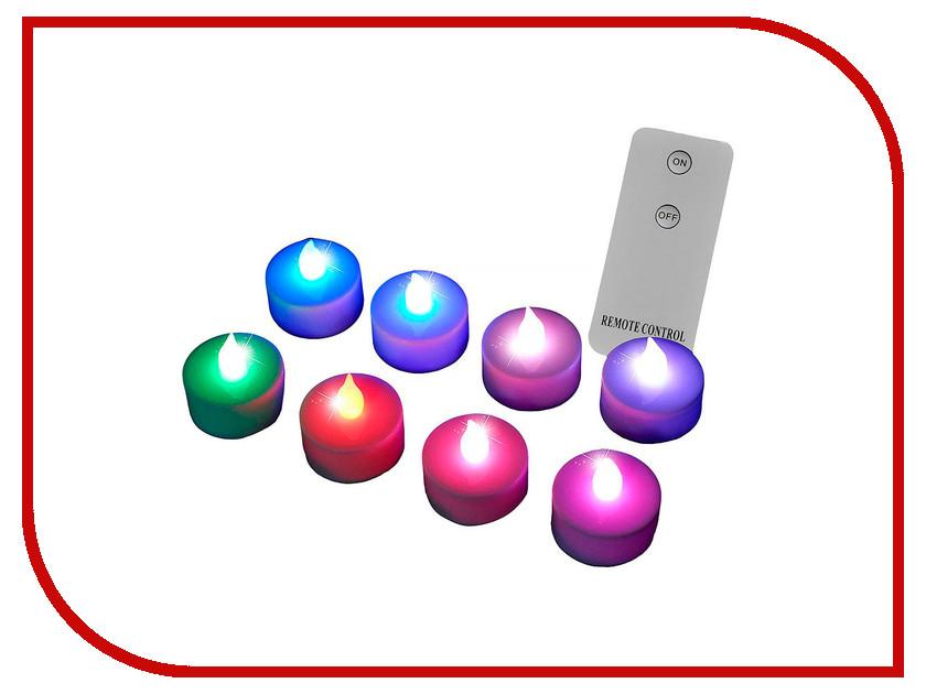 Светодиодная свеча Edelman Радужные огни набор чайных LED-свечей 372643