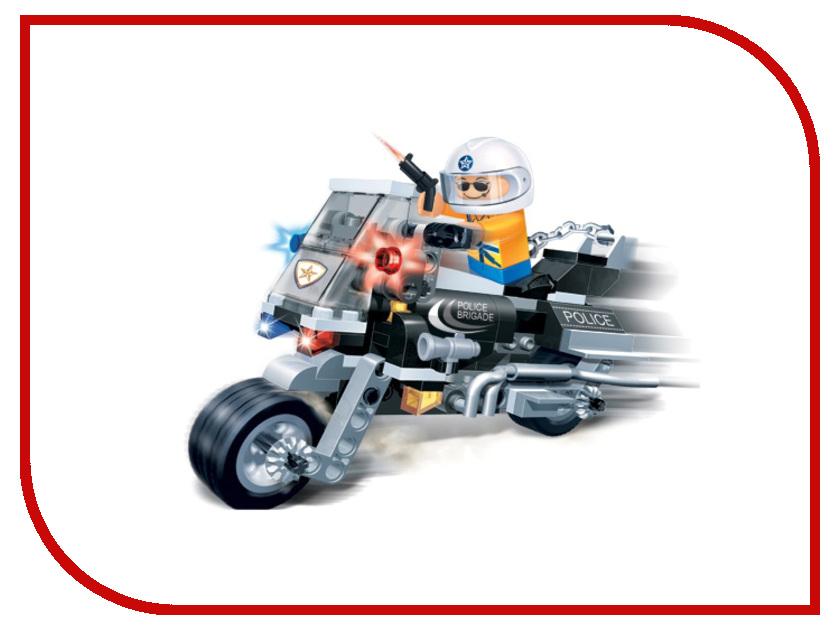 Конструктор BanBao Полицейский на мотоцикле 140 дет. 8351 кол мор