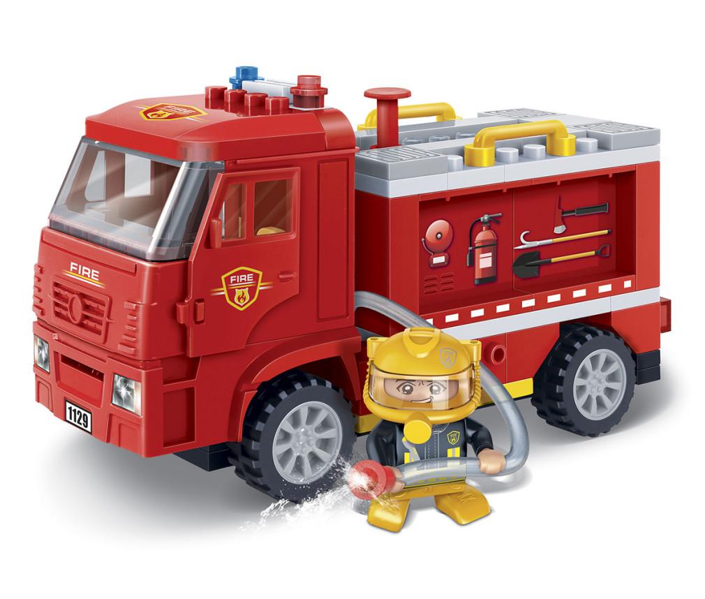 Конструктор BanBao Пожарная машина 126 дет. 7116 конструктор металлический пожарная машина 239 детали