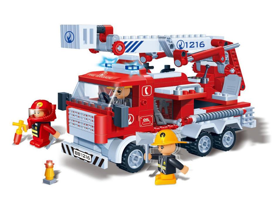 Конструктор BanBao Пожарная машина 290 дет. 8313 конструктор металлический пожарная машина 239 детали