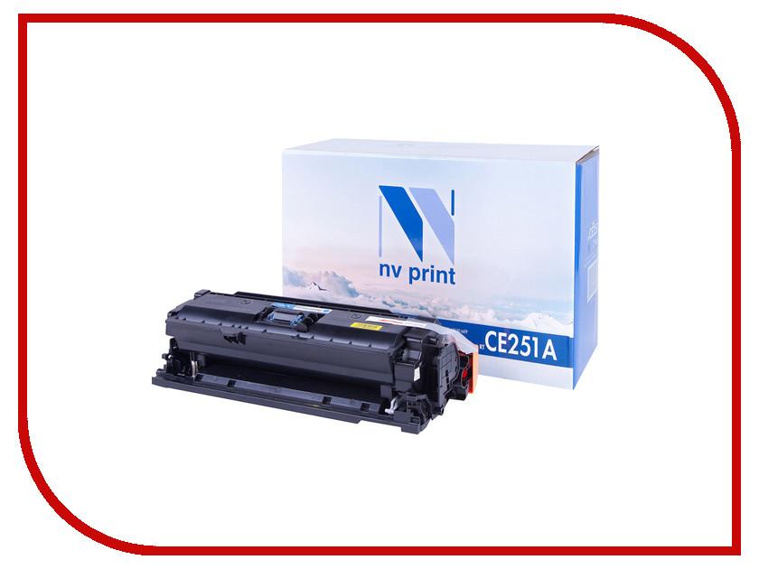 Картридж NV Print CE251A Cyan для LaserJet Color CP3525/CP3525dn/CP3525n/CP3525x/CM3530/CM3530fs/Canon i-SENSYS LBP7750Cdn<br>