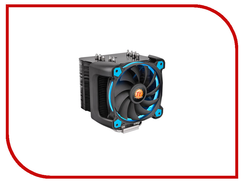 Кулер Thermaltake Cooler Riing Silent 12 Pro Blue CL-P021-CA12BU-A (Intel LGA 2011-3/2011/1366/1156/1155/1151/1150/775/AMD FM2/FM1/AM3+/AM3/AM2+/AM2) thermaltake bigwater 760 pro clw0220