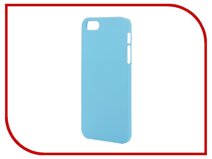 Аксессуар Чехол-накладка Pulsar Clipcase PC Soft-Touch для iPhone 5/5S Blue PCC0128<br>