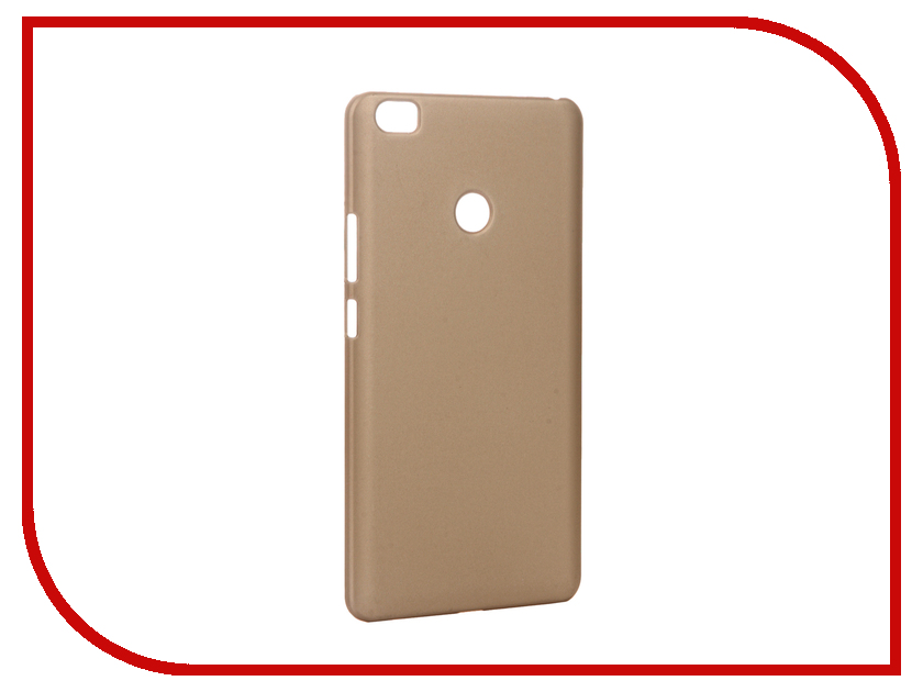 Аксессуар Чехол-накладка Xiaomi Mi Max Pulsar Clipcase PC Soft-Touch Gold PCC0244<br>