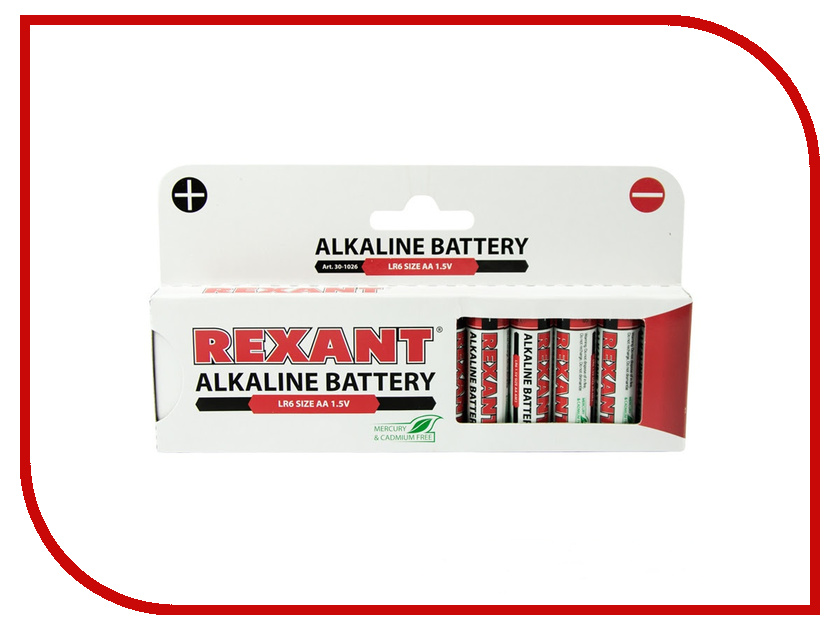 Батарейка AA - Rexant LR6 1.5V 2700 mAh 30-1026 (12 штук) батарейка rexant lr45 ag9 lr936 g9 194 gp94a 394 sr936w 30 1032 2 штуки