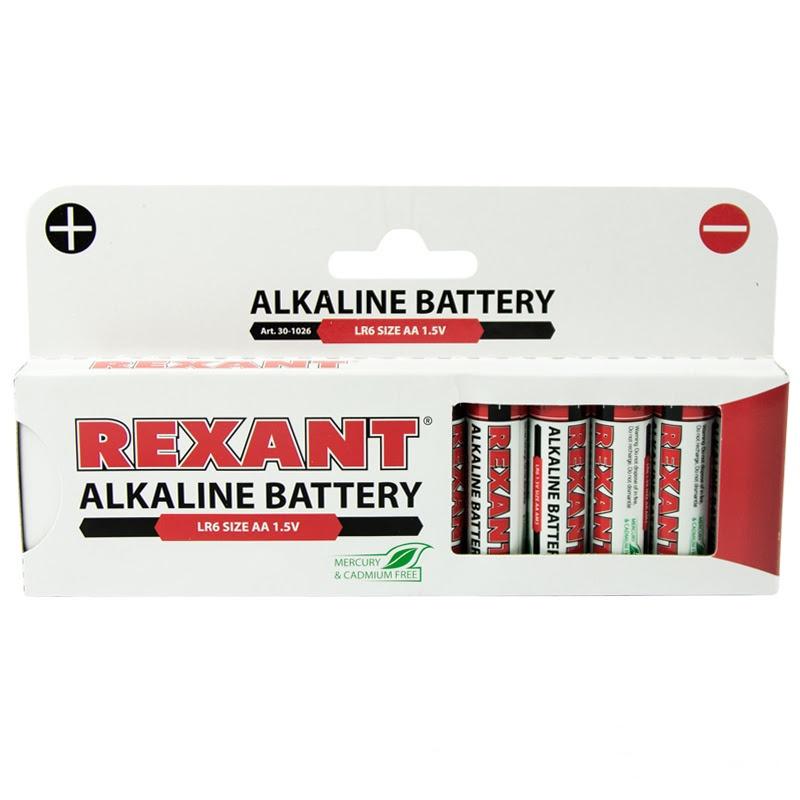 Батарейка AA - Rexant LR6 1.5V 2700 mAh 30-1026 (12 штук)