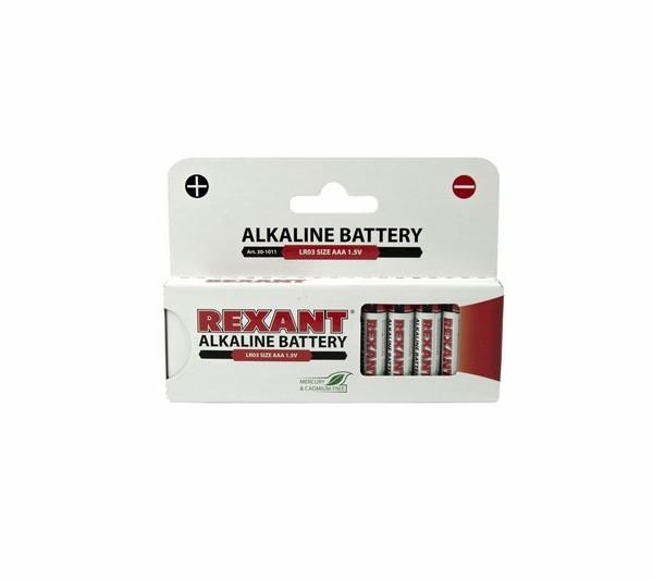 Батарейка AAA - Rexant LR03 1.5V 1200 mAh 30-1011 (12 штук)