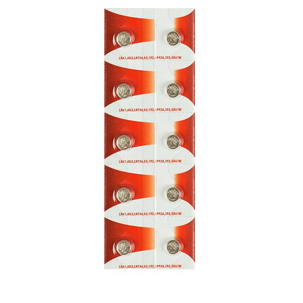 Батарейка Rexant LR41/AG3/LR736/G3/192/GP92A/392/SR41W 30-1038 (10 штук)