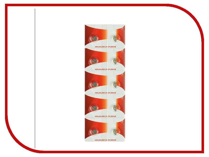 Батарейка Rexant LR50/AG0/LR521/G0/379/SR521W 30-1041 (10 штук) батарейка rexant lr69 ag6 lr921 g6 171 gp71a 371 sr920w 30 1035 10 штук