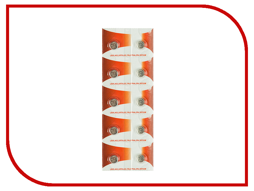 Батарейка Rexant LR59/AG2/LR726/G2/196/GP96A/396/SR726W 30-1039 (10 штук) slocum 396