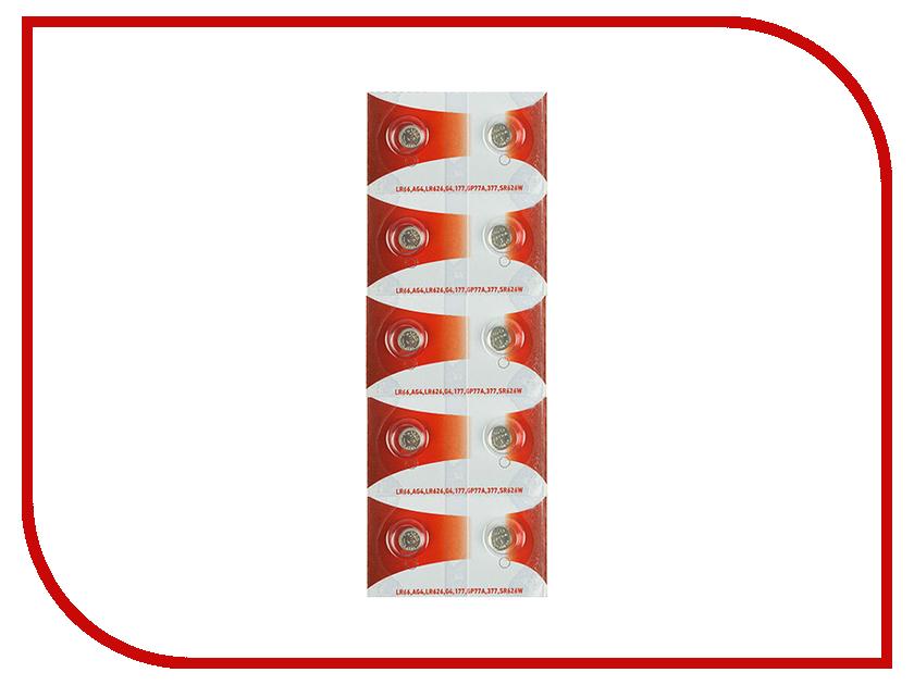 Батарейка Rexant LR66/AG4/LR626/G4/177/GP77A/377/SR626W 30-1037 (10 штук)