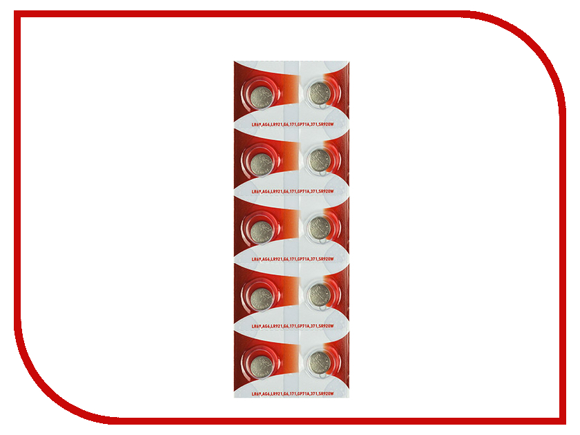 Батарейка Rexant LR69/AG6/LR921/G6/171/GP71A/371/SR920W 30-1035 (10 штук) стайлер lira lr 0802